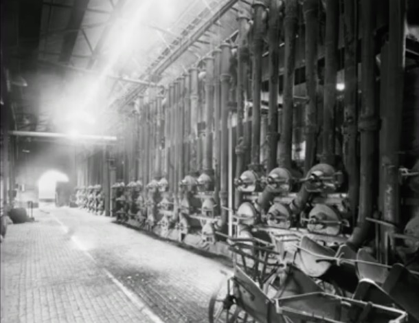 Inside the gasworks